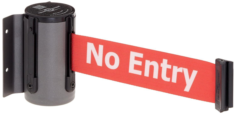 4.75 Width 24 Length 4.25 Length 2 Wide 7.25 Height Red Danger Do Not Enter Belt Tensabarrier 897-24-M-1P-NO-RIX-C Polished Chrome Magnetic Mount Wall Unit with Standard Belt End