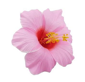 Amazoncom Bonitagirl Hawaiian Hibiscus Flower Hair Clip Pink