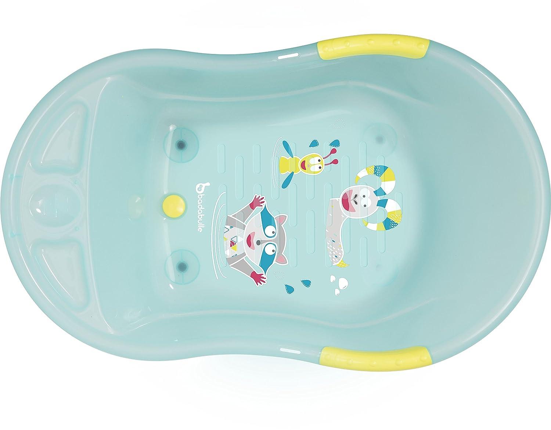 Badabulle Badewanne Bergtiere, für Babys und Kleinkinder, weiß weiß B019005