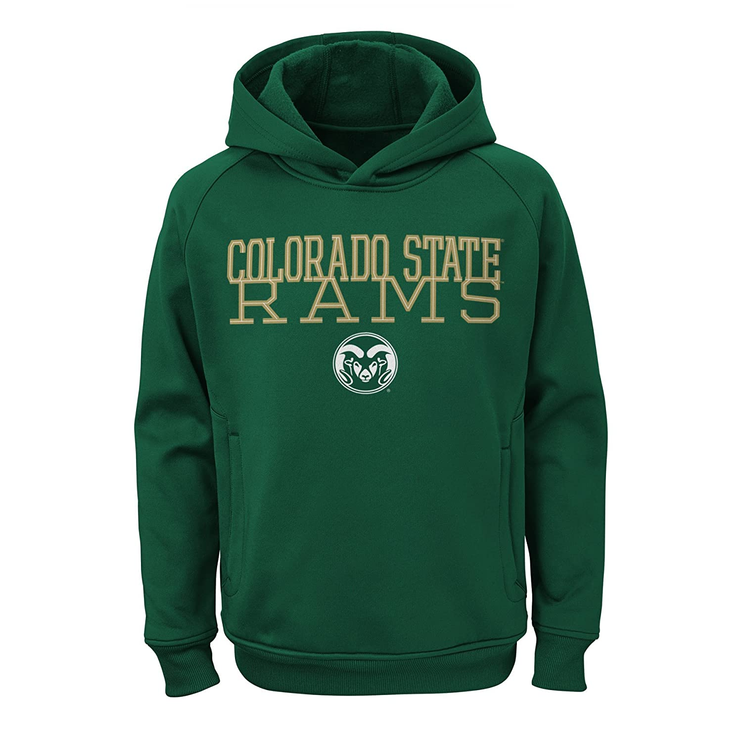 Youth Large NCAA Colorado State Rams Boys Outerstuff Overlap Performance Pullover Hoodie 12-14 Team Color