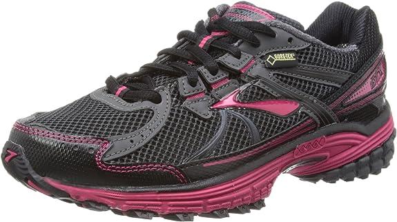 BROOKS Adrenaline ASR 10 GTX Zapatilla de Trail Running Señora, Gris/Negro/Rosa, 37.5: Amazon.es: Zapatos y complementos
