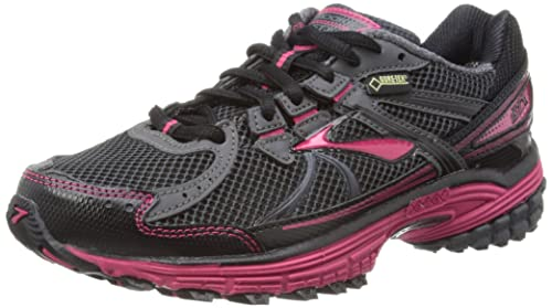 9d57e463befb Brooks Womens Adrenaline ASR 10 GTX W Running Shoes 1201421B408  Anthracite Black Bright Rose