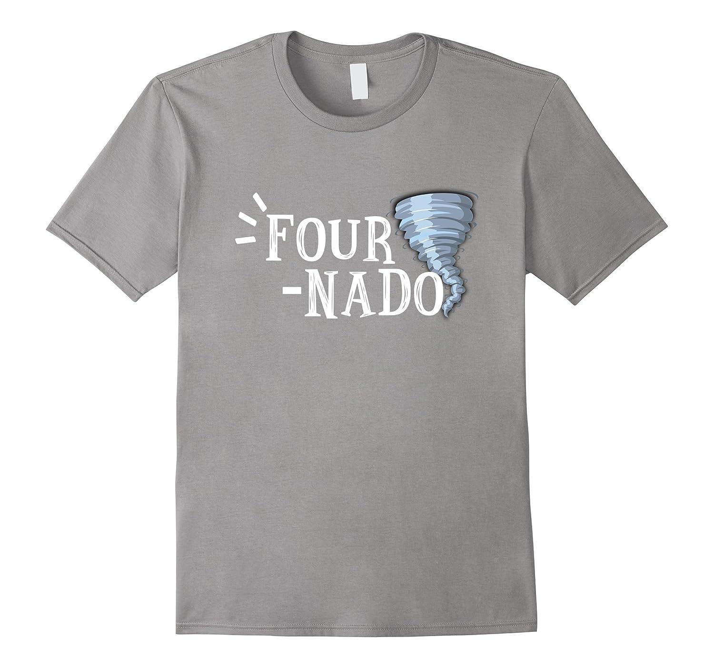 Kids Fournado Shirt Four Year Old Birthday Gift