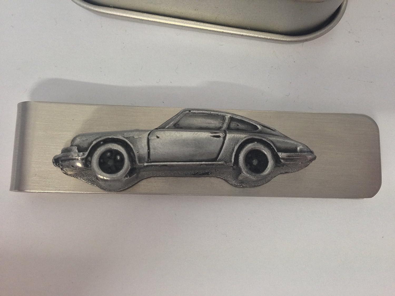 Pince à billets en acier inoxydable avec une Porsche 911 EMBLEME ref186 3D effet étain prideindetails