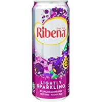 Ribena Sparkling Juice Drink Can, Blackcurrant, 325ml, (Pack of 6)