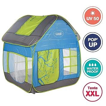 LUDI - Tente cottage pop-up pour jouer dans le jardin 130 x 120 x ...