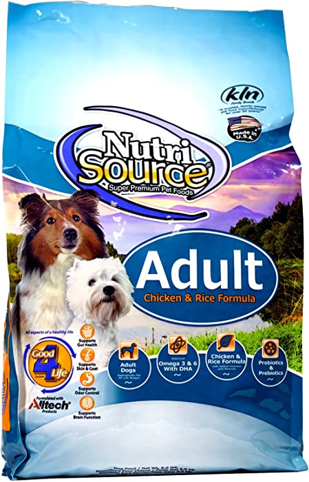 Tuffy's Pet Food NutriSource Chicken and Rice Adult Dog Food, 5-Pound