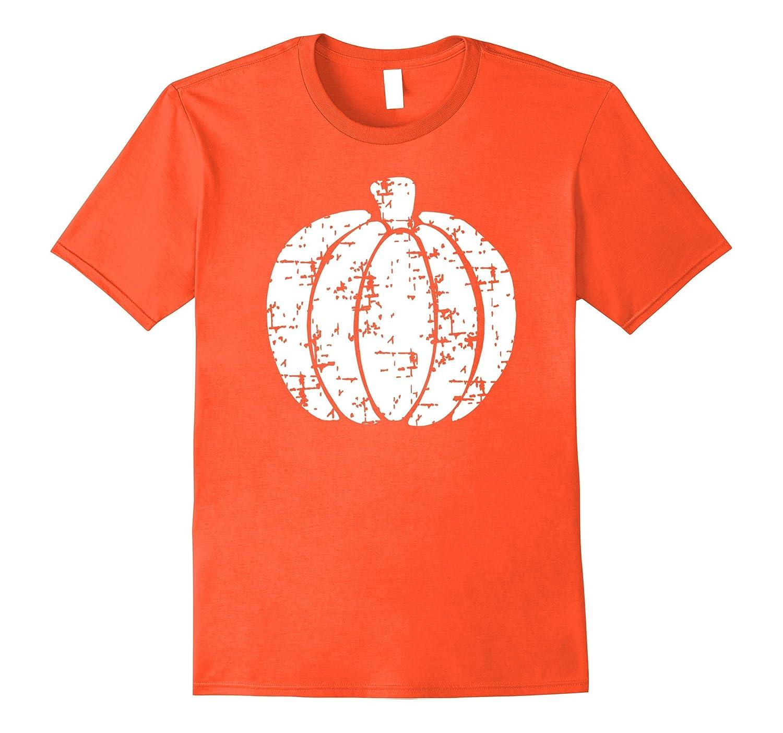 Halloween Shirt, Grunge Distressed Vintage Pumpkin T-Shirt-T-Shirt