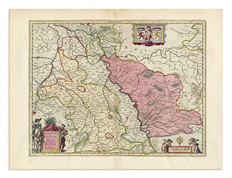 Map Of Germany Showing Cologne.Amazon Com The Blaeu Prints Cologne Germany Historical Map