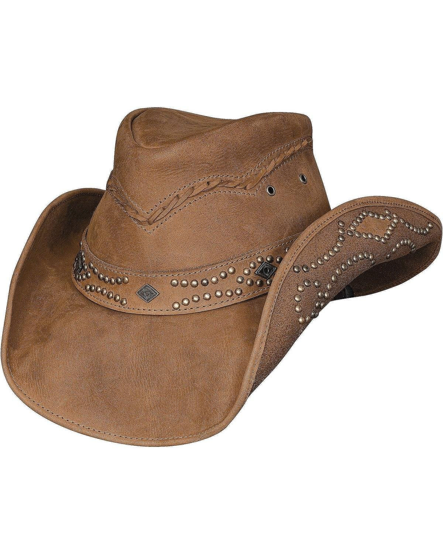 Bullhide Women's Hidden Pleasure Leather Hat Honey Medium