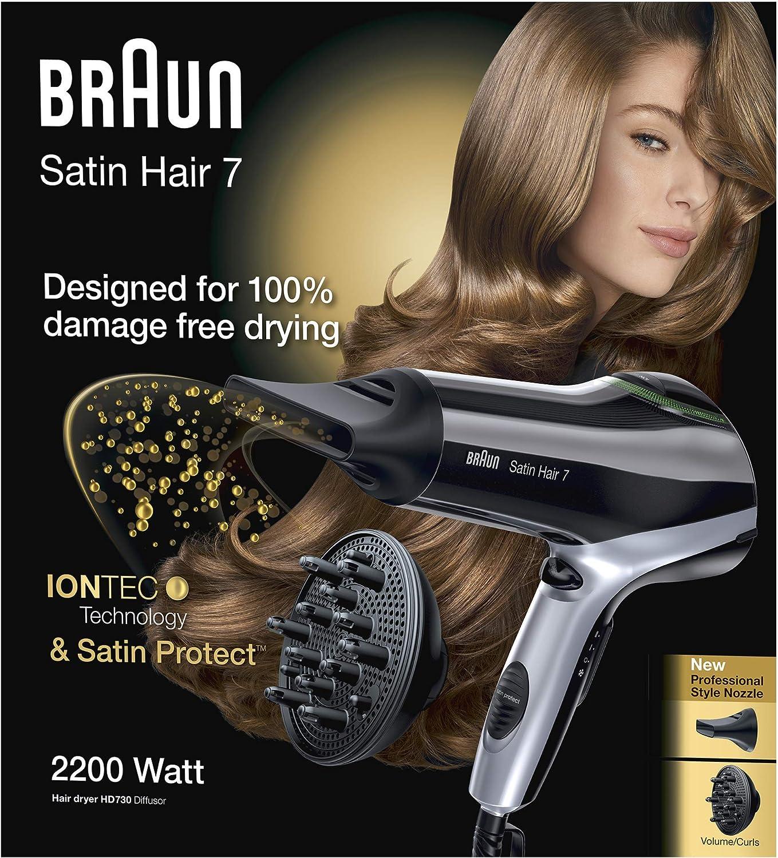 schwarz Braun Satin Hair 3 Haartrockner HD 350