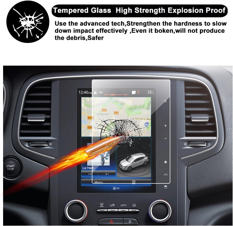 2017-2018 2016-2017 Renault Koleos II // Toughened Glass Screen Protector for Navigation System Renault M/égane IV Invisible Screen Protector Glass Film Clear Film RUIYA