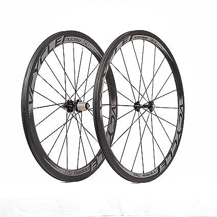 VCYCLE Nopea 700C Road Bike Carbon Wheelset Clincher Front 38mm Rear 50mm  Basalt Braking Surface 23mm Width Shimano or Sram 8/9/10/11 Speed