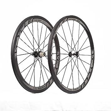VCYCLE Nopea 700C Carretera Bicicleta Carbono Juego de Ruedas Remachador Delantera 38mm Trasero 50mm Superficie de