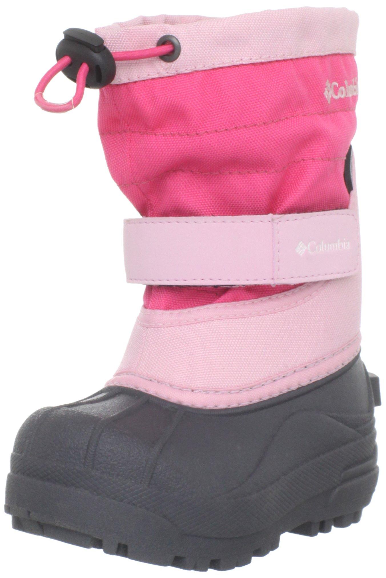 Columbia Toddler Powderbug Plus II Waterproof Winter Boot,Satin Pink/Afterglow,5 M US Toddler