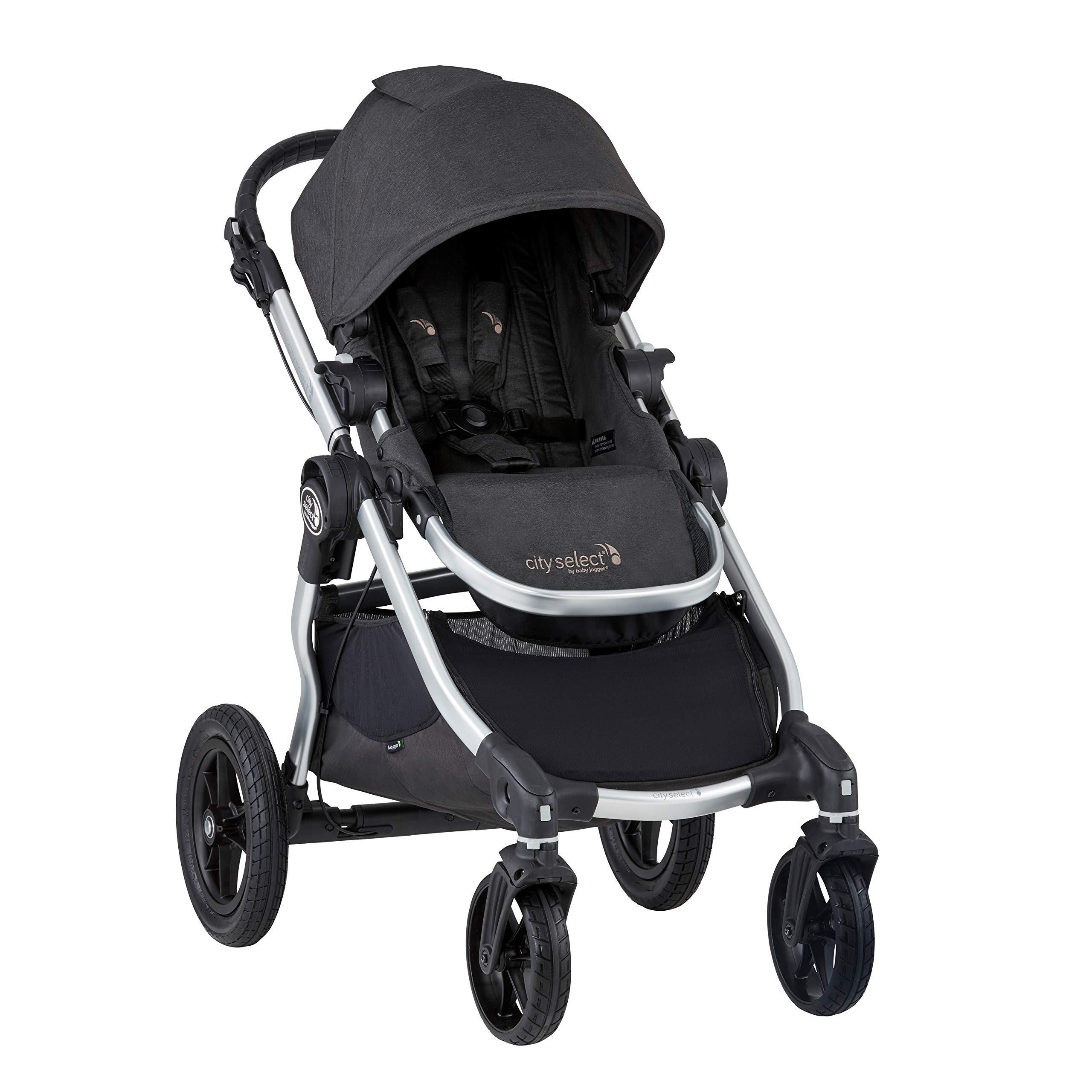 Baby Jogger City Select Stroller | Baby Stroller with 16 Ways to Ride, Goes from Single to Double Stroller | Quick Fold Stroller, Jet