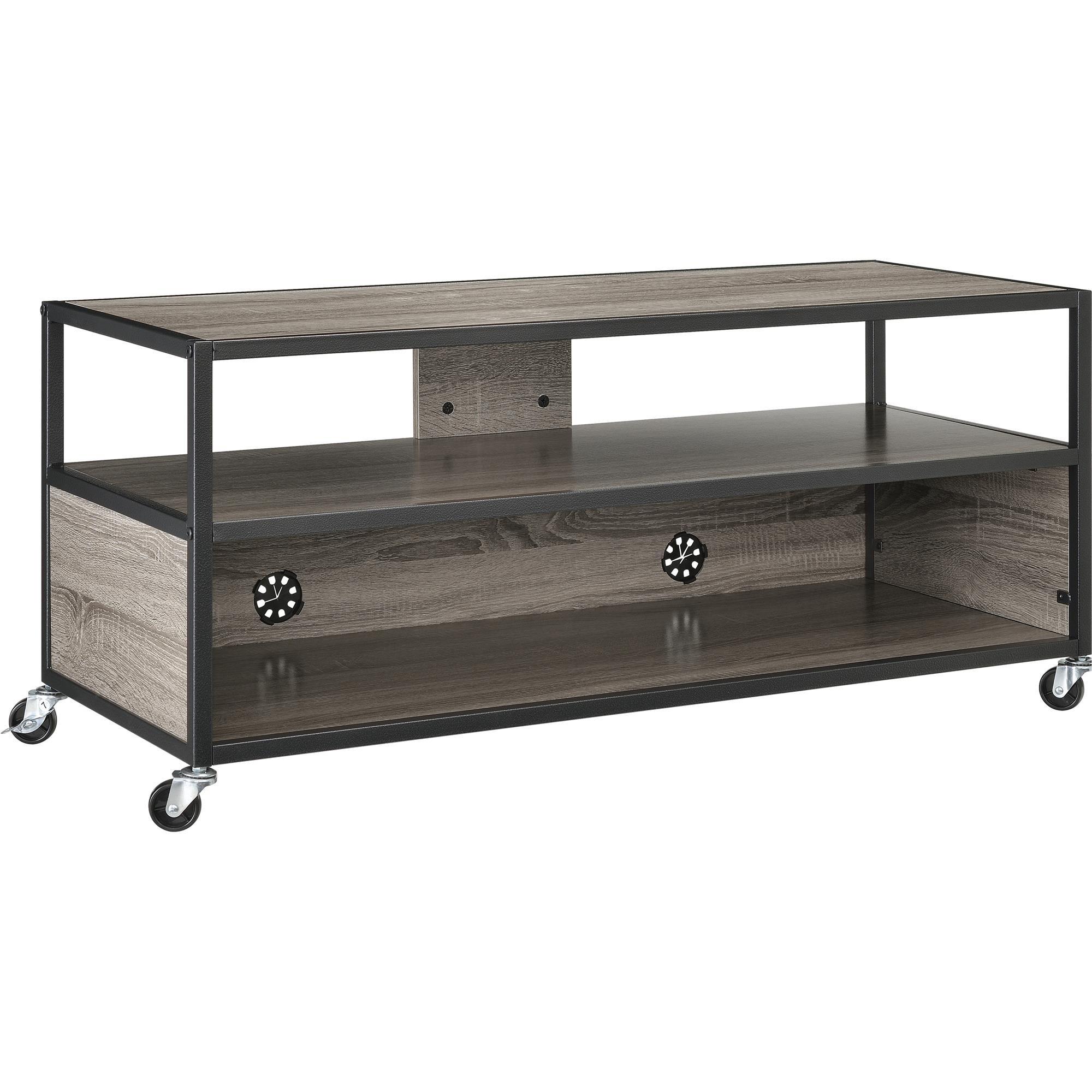 Altra Mason Ridge Mobile 46'' TV Stand with Metal Frame, Sonoma Oak/Black by Altra Furniture (Image #2)