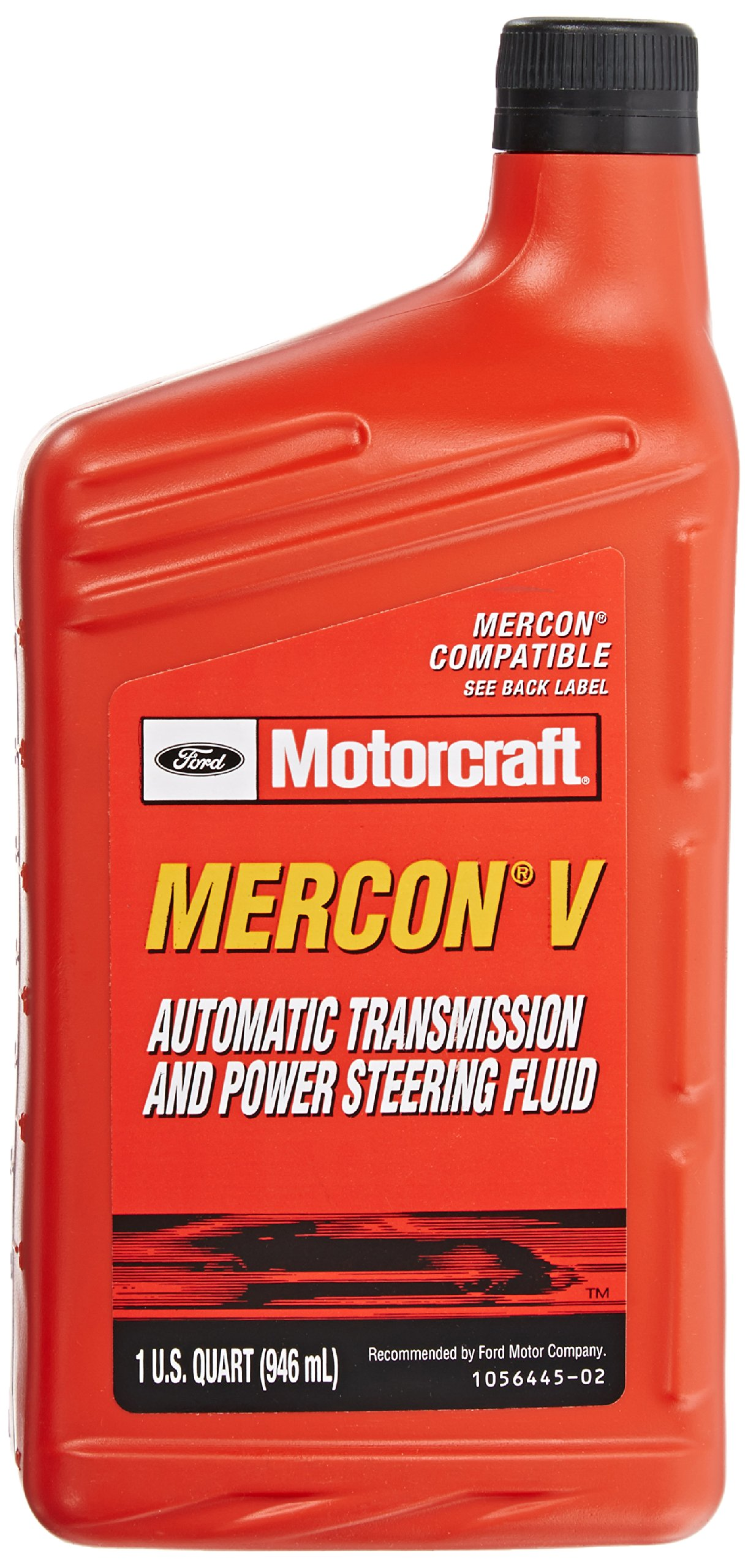 Genuine Ford XT-5-QM MERCON-V Automatic Transmission and Power Steering Fluid - 1 Quart