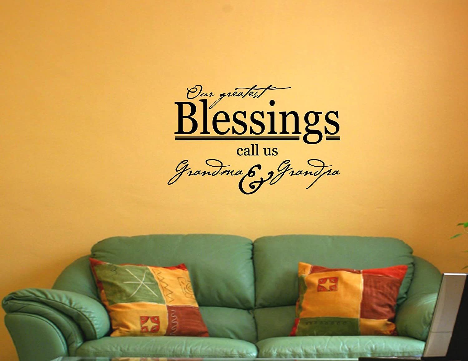 OUR GREATEST BLESSINGS CALL US GRANDMA & GRANDPA Vinyl wall quotes ...