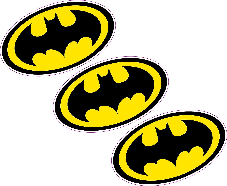 3/x Batman Logo 80/mmx46/mm Crest vinyle Sticker mural Voiture pour ordinateur portable Superhero Comic Book