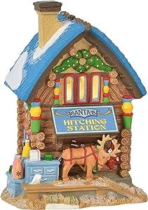 Department 56 North Pole Village Series Santa's Hitching Station Lit Building, 6.75