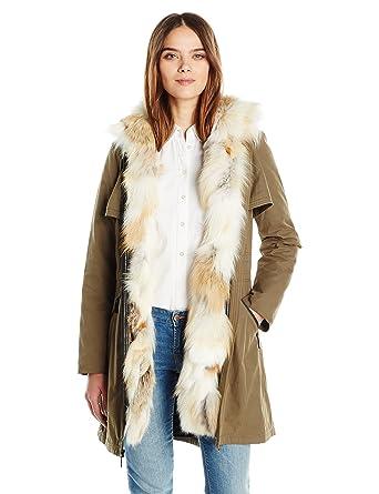 92f4df65007 Dawn Levy Women s Mackenzie Detachable Fox Fur Coat