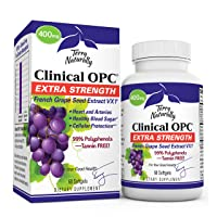 Terry Naturally Clinical OPC Extra Strength - 60 Softgels - French Grape Seed Extract...