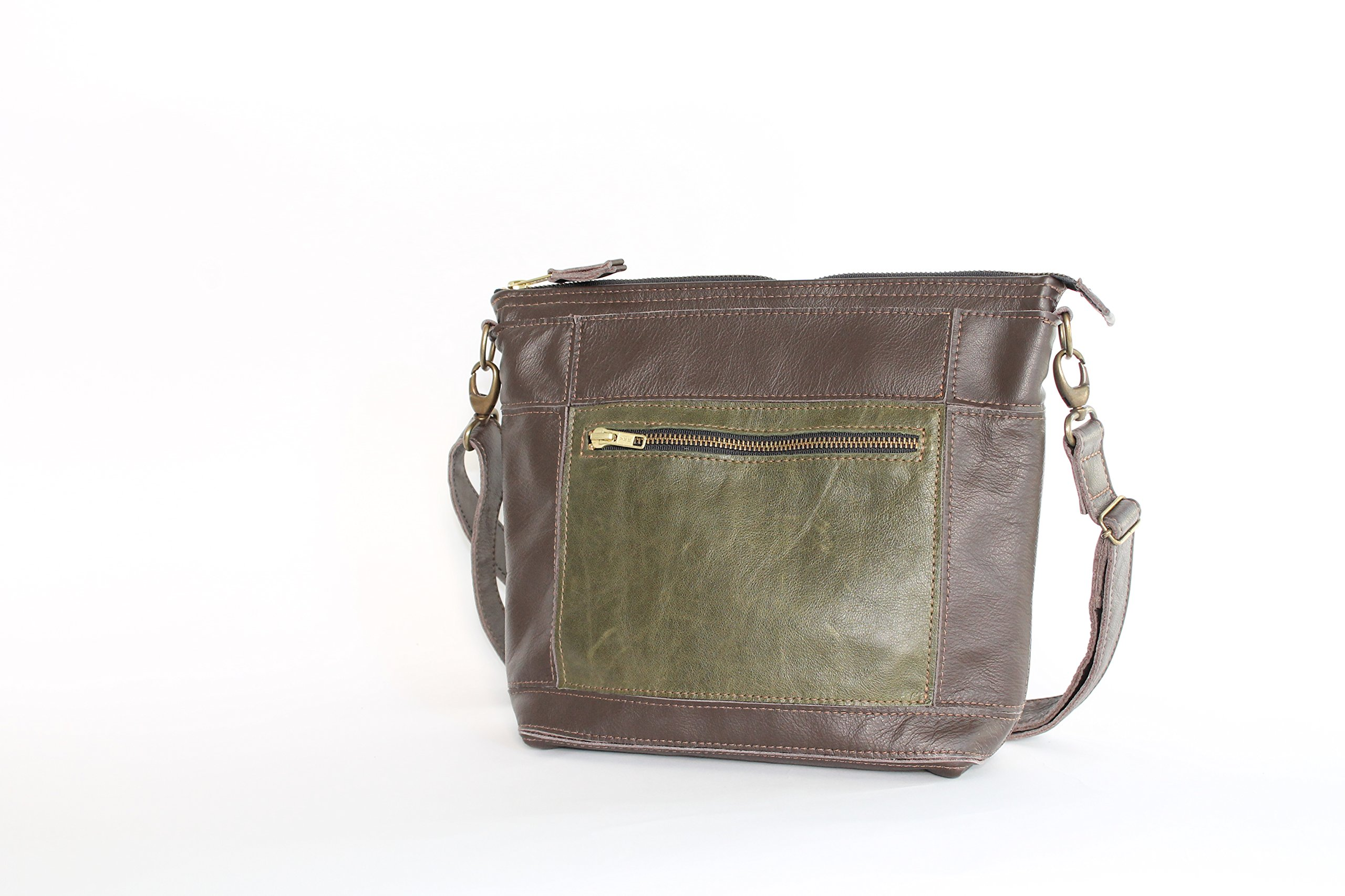 handcrafted leather cross-body bag