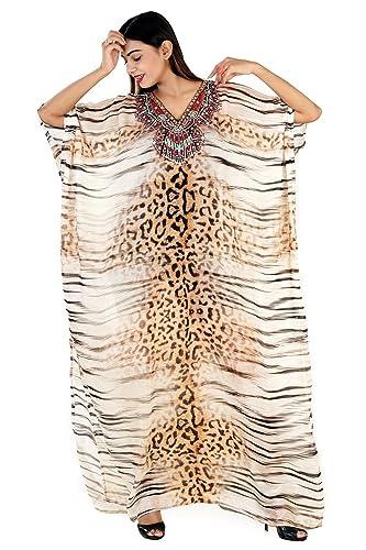 3051771a8f Amazon.com: Beach kaftan dress for woman beaded/beach wear/one piece  jeweled full length kaftan/long kaftans/luxury resort wear dressy caftan  plus: Handmade