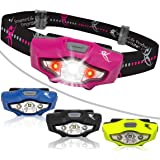 Headlamp by SmarterLife | CREE LED Headlight with Strobe, Lightweight, Water Resistant for Camping, Running, Hiking, Emergency Kit, and Reading Light