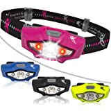 Headlamp by SmarterLife | Super Bright & Light Headlamps | CREE LED with 6 Light Modes | Water Resistant Headlight for Camping, Running, Hiking, Hunting, Emergency | Battery, eBook
