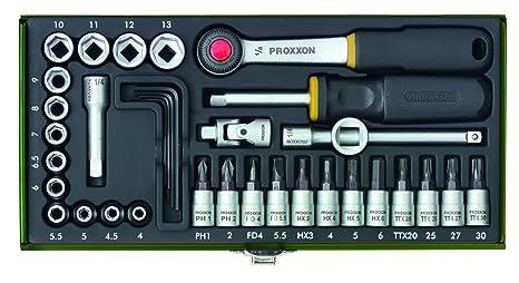Proxxon 23080 Steckschlüsselsatz 14 Zoll 36 Teilig Amazonde