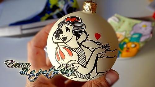 Bolas para arbol de Navidad- accesorios pintados a mano, set 4 piezas -detalles de Navidad -regalos originales para Navidad - Dia de Reyes - Año Nuevo: Amazon.es: Handmade