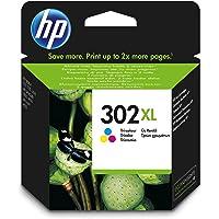 HP 302XL - Cartucho de tinta Original HP 302 XL Tricolor para HP DeskJet 1110, 2130, 3630 HP OfficeJet 3830, 4650 HP ENVY 4520