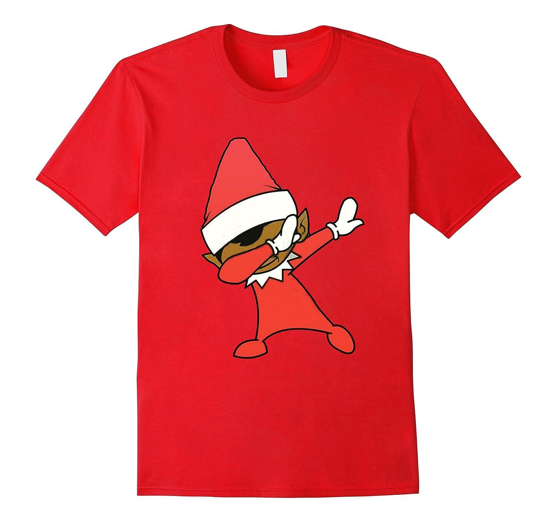 ELF DAB DABBING T-SHIRT Christmas Dab Elf Dab Dabbing Tee - Goatstee
