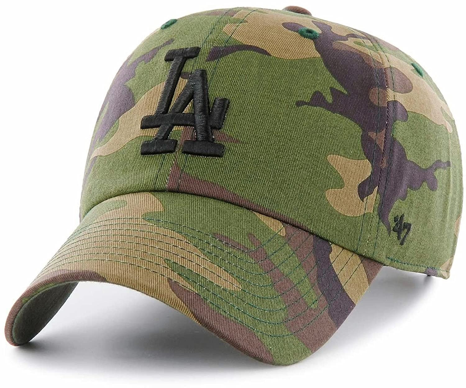 official photos 38061 10290 Amazon.com   47 Los Angeles Dodgers Brand Unwashed Camo Clean Up Slouch Fit  Hat, Wood Camo, One Size   Sports   Outdoors