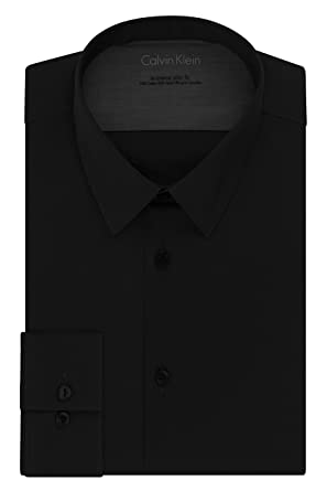 Calvin Klein Men s Stretch Xtreme Slim Fit Solid Point Collar Dress Shirt 3ab66cbc5
