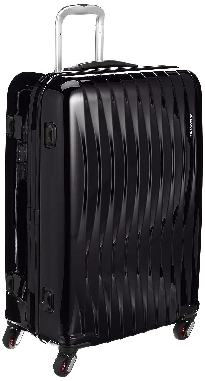 [フリクエンターウェーブ] 4輪スーツケース ファスナータイプ 56L 89L 68cm 4.7kg 1-624 B00KYJNB30 ブラック ブラック