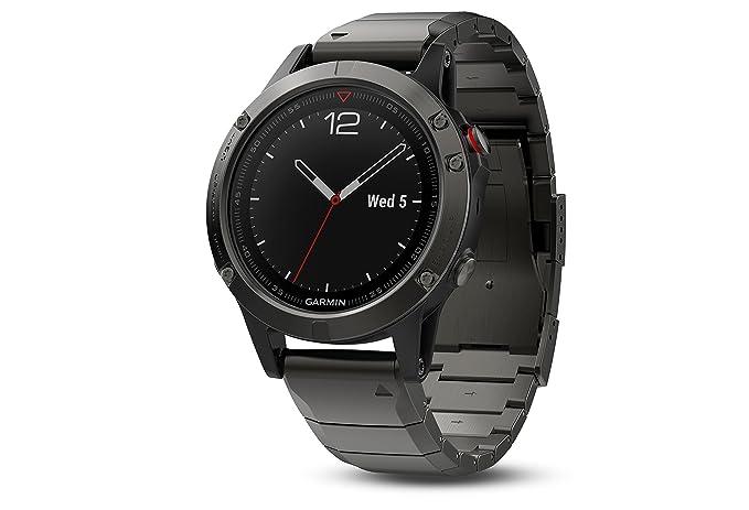 Garmin Fenix 5 Reloj GPS multideporte Zafiro 47mm Gris Pizarra extensibles  de metal  Amazon.com.mx  Electrónicos b68195dee1a00