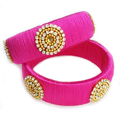 bangle handmade creations silk thread bangles gifts aishu jewellery online