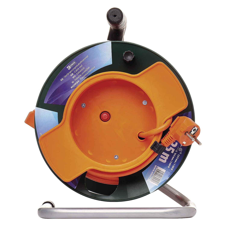 50m Kabel mit 4 Steckdosen 1,5 mm Schuko EMOS DG 4ZR Profi-Kabeltrommel