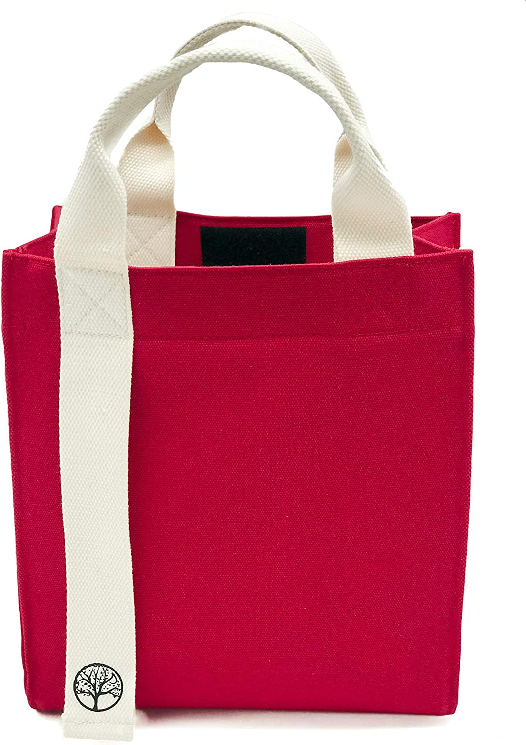 VIRGIN PULP Canvas Lunch Bag| Extra Thick Insulation keeps food cold, fresh & hot Construction| Large size to fit sandwich, salad, containers| Perfect for Men, Women, Teens & Kids| Red