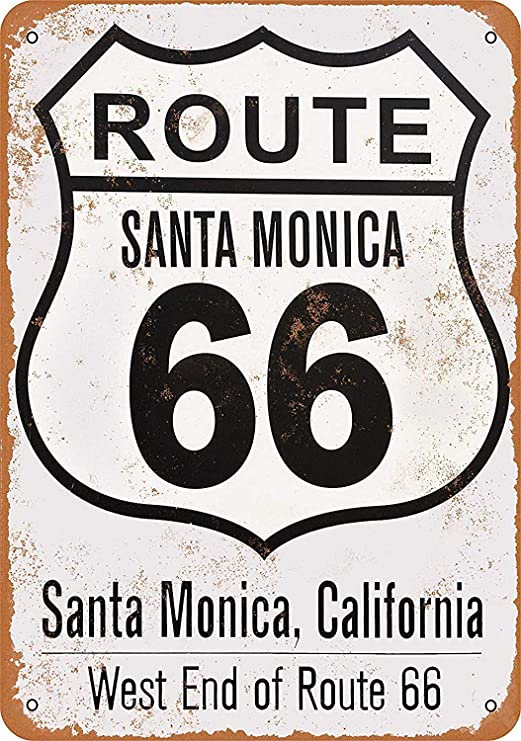 Santa Monica Route 66 End Póster de Pared Metal Creativo ...