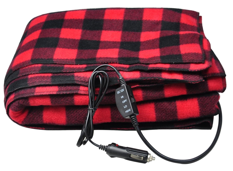Fleece Heated Electric Travel Blanket
