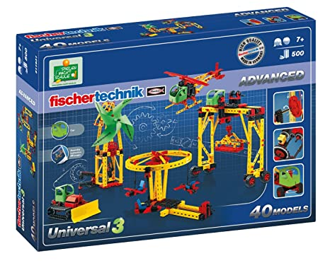 Motor Set XS Bau- & Konstruktionsspielzeug-Sets Fischertechnik Advanced Universal 3 Einsteigerbaukasten