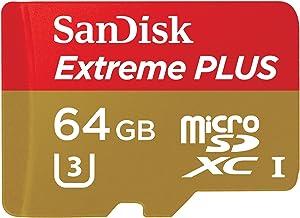 SanDisk Extreme PLUS 64GB microSDXC UHS-I/U3 Card with Adapter (SDSQXSG-064G-GN6MA)