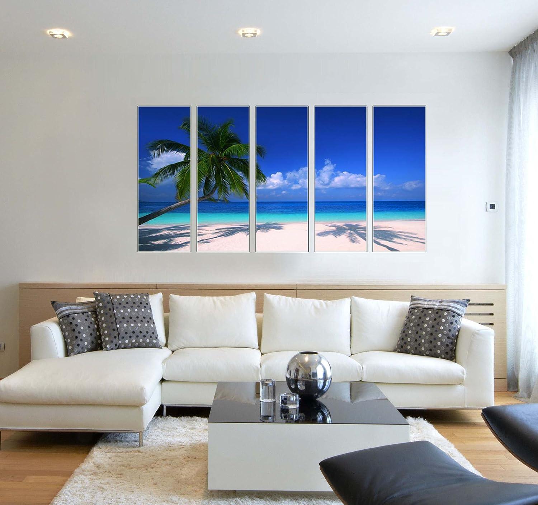 Amazon.com: Tropical beach print on canvas, seascape canvas art ...