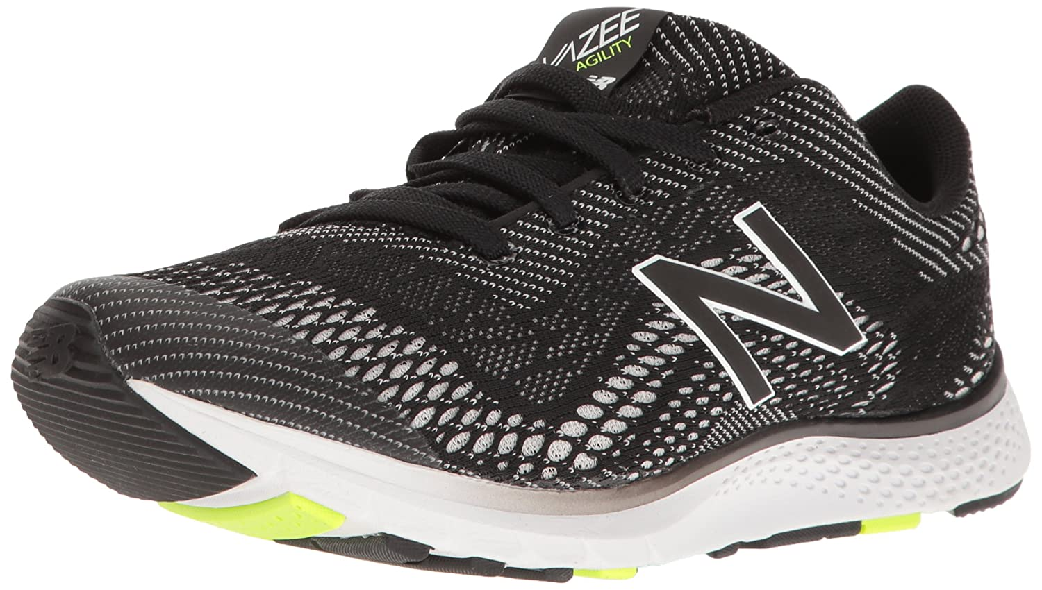 New Balance Women's FuelCore Agility v2 Cross Trainer B01FSISMJE 10 D US|Black/Lime Glow/White