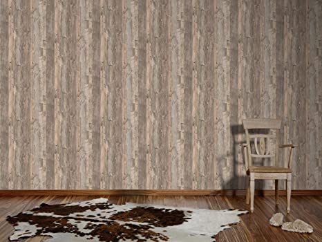 AS Creation Distressed Driftwood Wood Panel Faux Effect Embossed Wallpaper Blue Brown 954052 Amazoncouk Kitchen Home