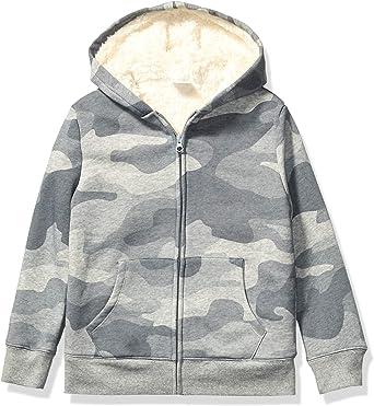 Spotted Zebra Unisex Kids Sherpa-Lined Fleece Zip-up Hoodies
